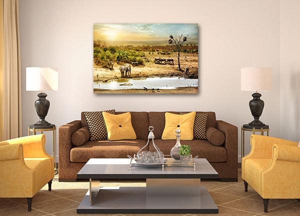 African Safari Canvas Art Print Canvas Art