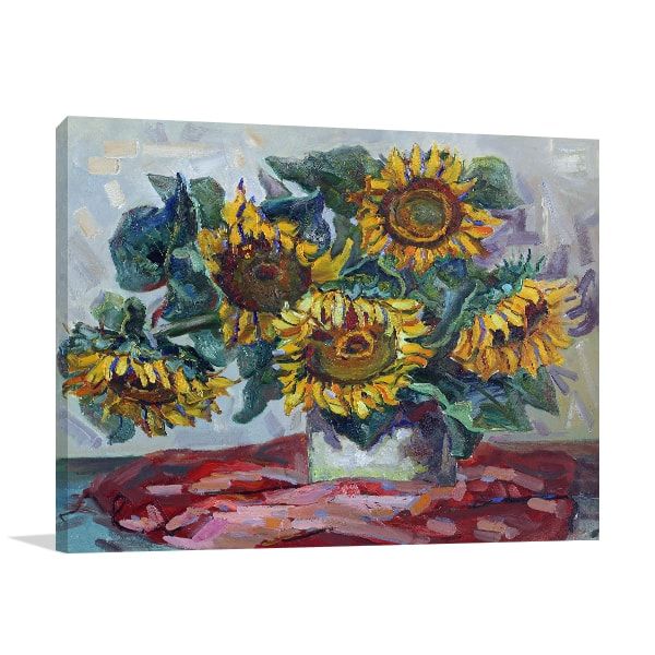 Afternoon Sunflowers Print Artwork