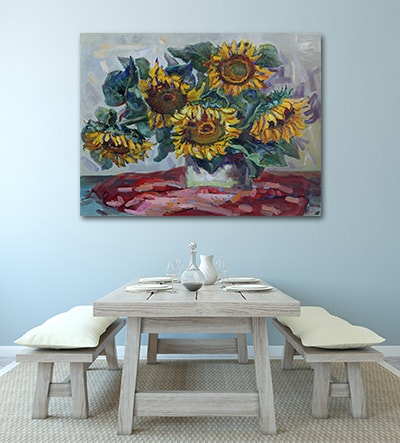 Afternoon Sunflowers Canvas Art Print