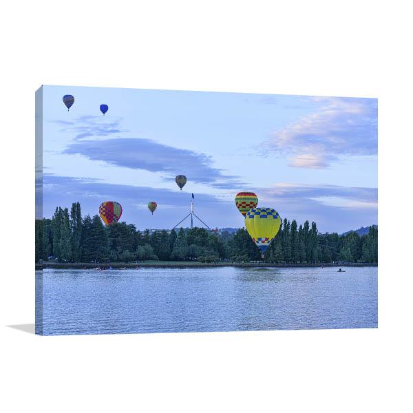 Air Balloon Event Canberra Canvas Art Prints