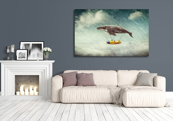 Airship Whale Print Artwork