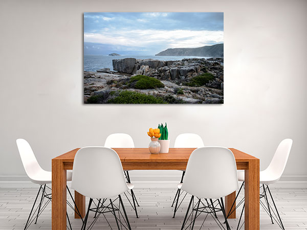 Albany Cloudy Evening Canvas Prints