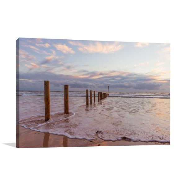 Aldinga Art Canvas Print Silber and Sand Beach