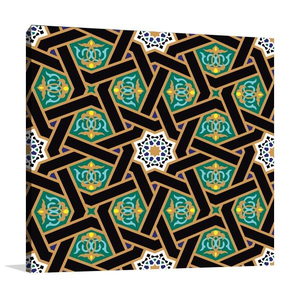 Alhambra Pattern Canvas Art Prints