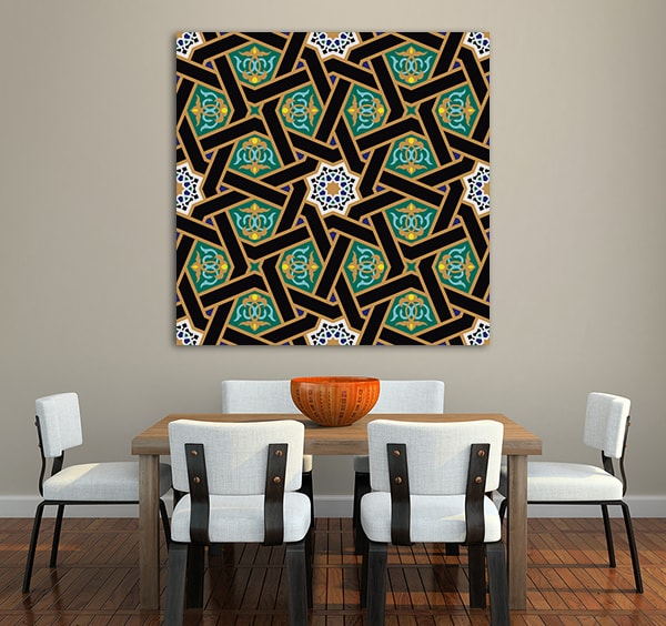 Alhambra Pattern Print Artwork