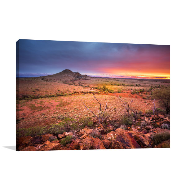 Alice Spring Art Print Beautiful Sunset