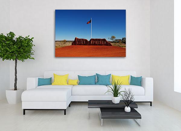 Alice Springs Center Canvas Prints