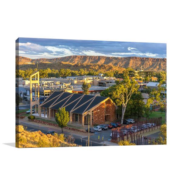 Alice Springs Central Church Print Artwork