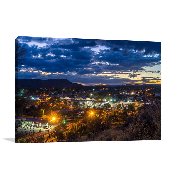 Alice Springs Lookout Canvas Art