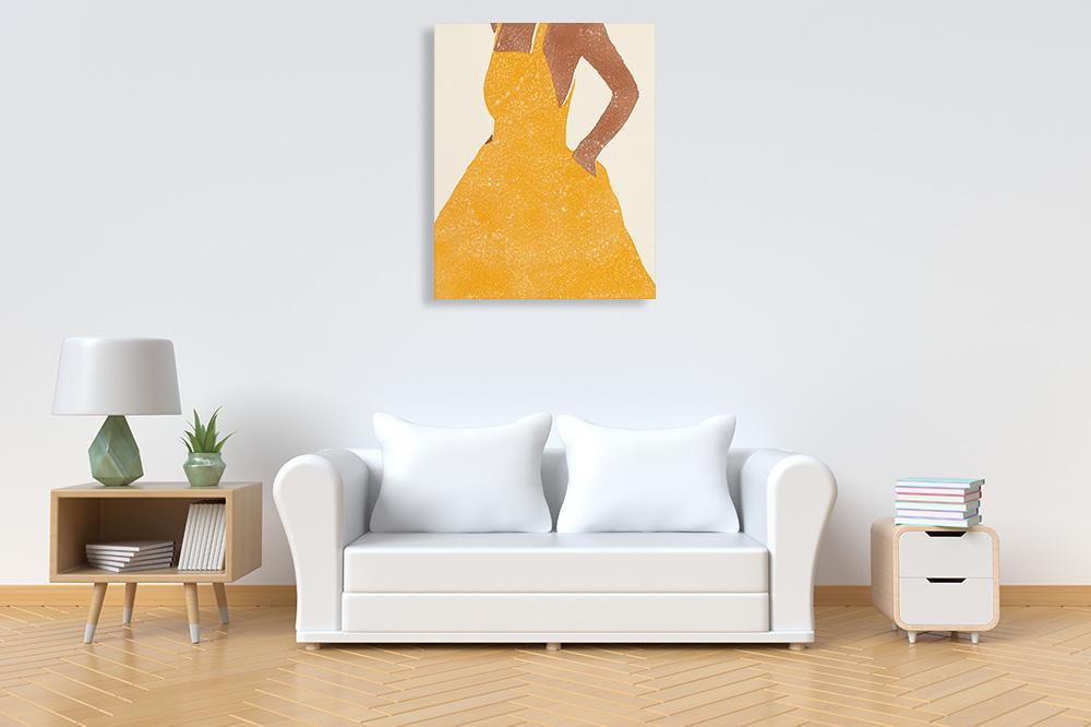 All Dressed Up II Wall Art Print | Yellow Fashion Art