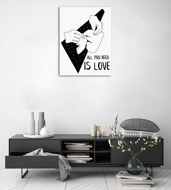 All You Need Line Canvas Art Prints