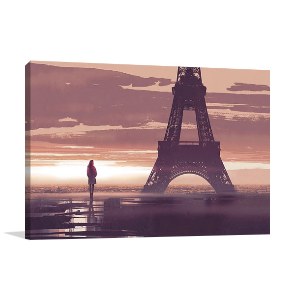 Paris France Wall Print Canvas