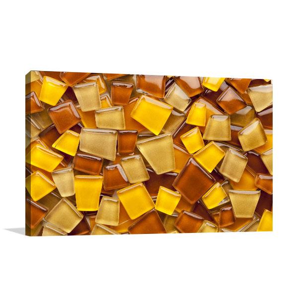 Amber Glass Wall Art