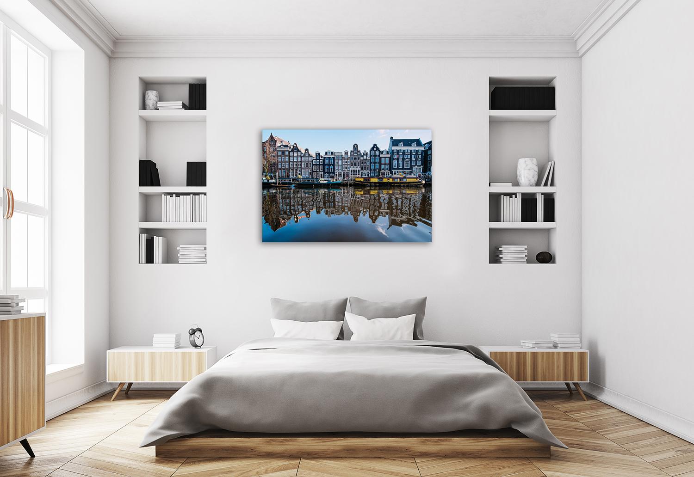 World Landmarks Art Canvas Print