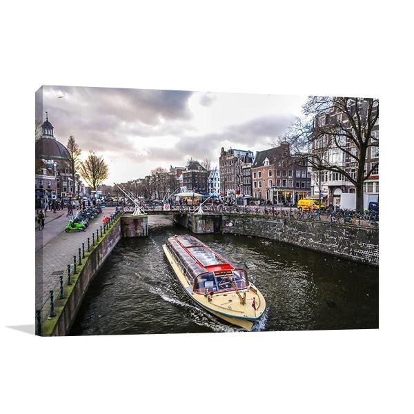 Amsterdam City Print Canvas