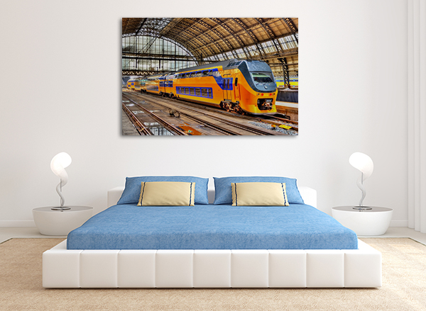 Amsterdam Train Wall Art Print on the wall