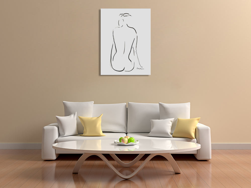Line Illustration Figurative Wall Print