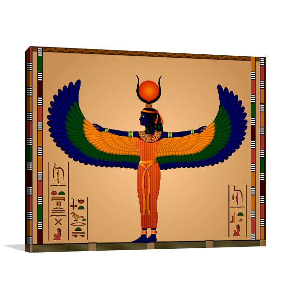 Ancient Egypt Woman Canvas Art Prints
