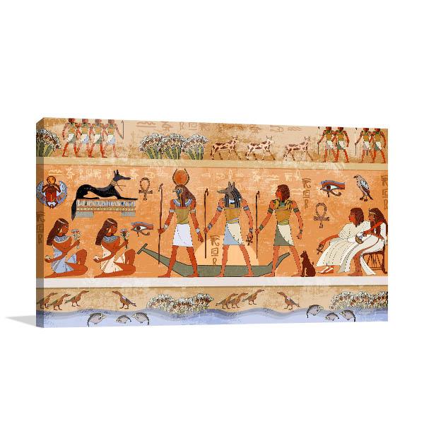 Ancient Egypt Scene Canvas Art Prints