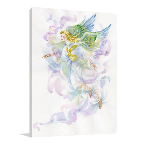 Angel In Watercolour Canvas Art