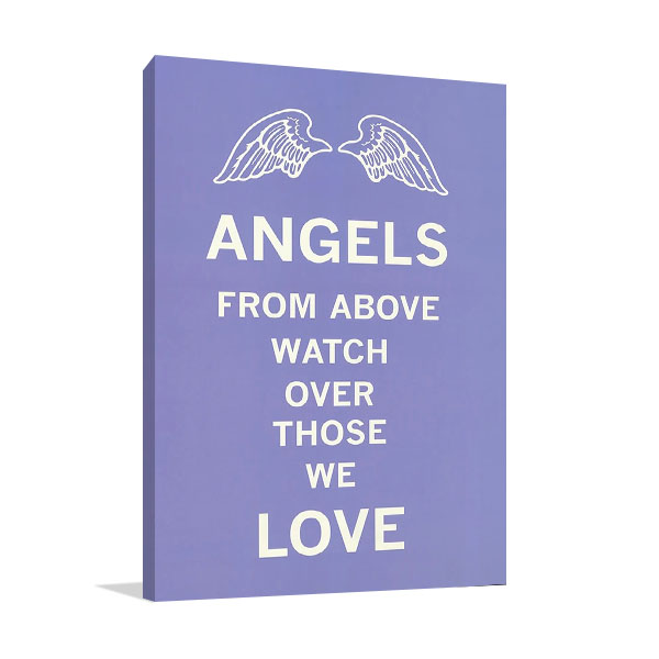 Angels Love Print on Canvas