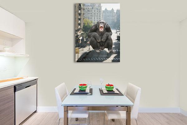 Angry Monkey at City Wall Art
