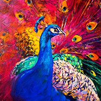 Hand Painted Animals Oil Paintings on Canvas