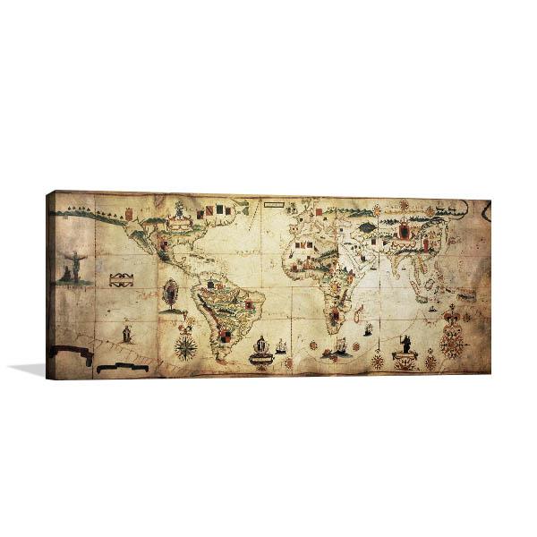 Antique World Planisphere Artwork