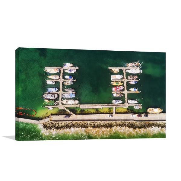 Apollo Bay Marina Yachts Canvas Art