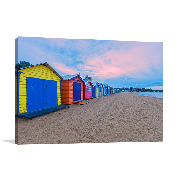 Australia Brighton Beach Wall Canvas Print