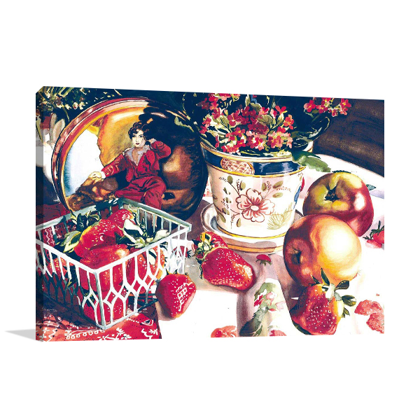 Apple and Strawberry Wall Art Print