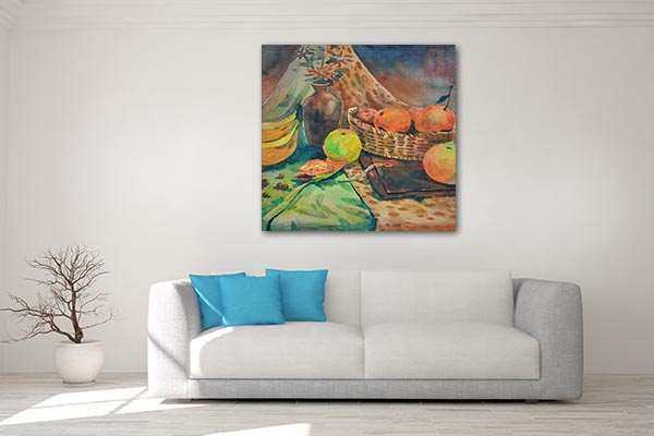 Apple, Banana And Orange Canvas Art