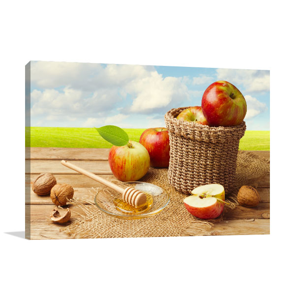 Apples With Honey Prints Canvas