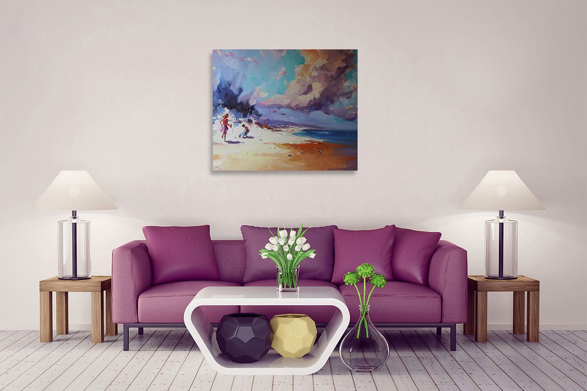 Li Zhou Prints on Canvas | Approaching Storm Paintings | Wall Art