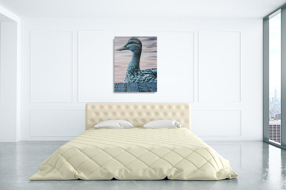 Bedroom Animal Canvas Wall Print
