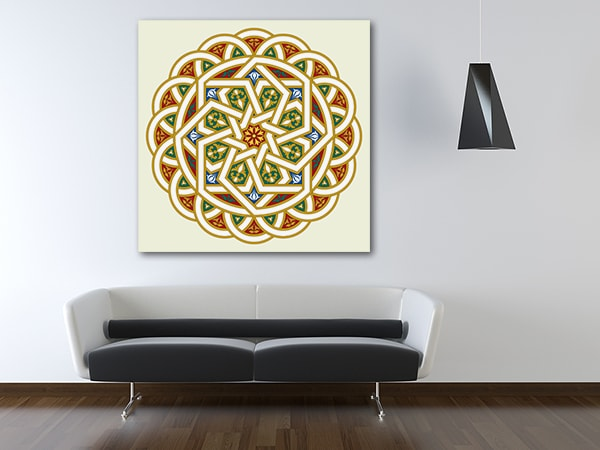 Arabesque Pattern Canvas Prints