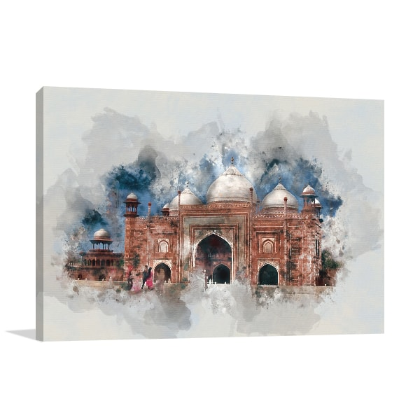 Architecture Splatters Canvas Art Prints