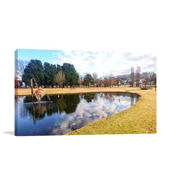 Armidale Canvas Art Print Sky in Pond