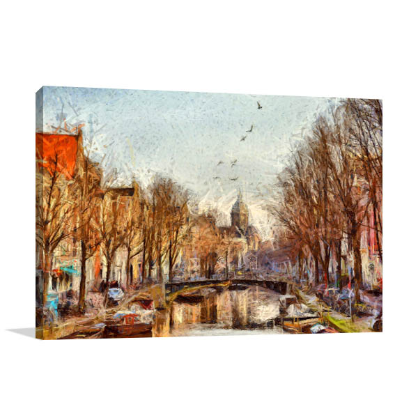 Amsterdam Canal Artwork