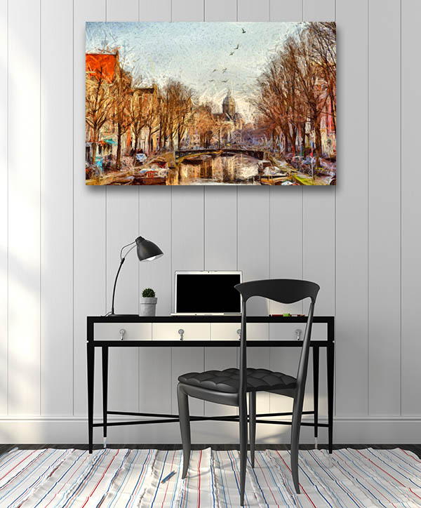 Amsterdam Canal Wall Art