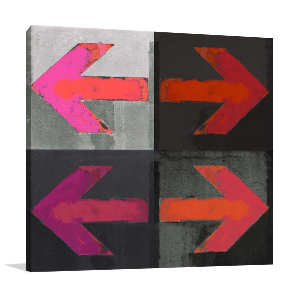 Arrows Grunge Canvas Art