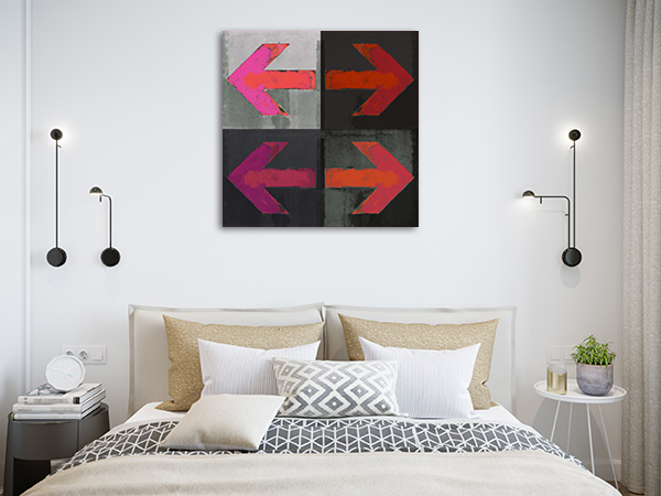 Arrows Grunge Prints Canvas