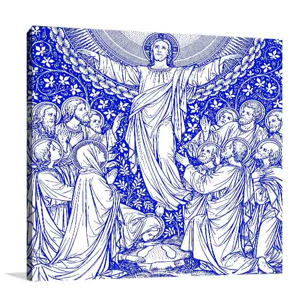 Ascension Day in Blue Canvas Art Prints
