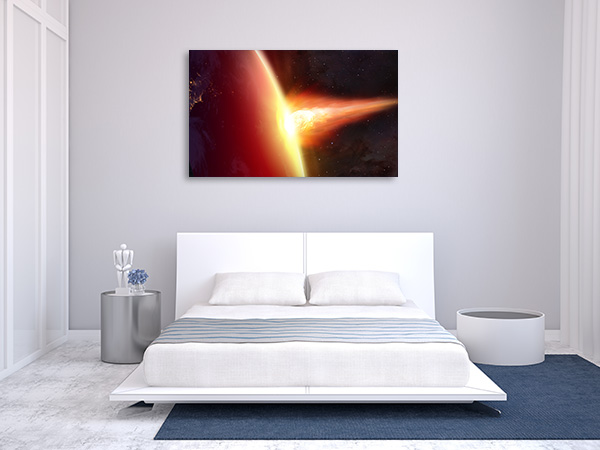 Asteroid Attack Canvas Prints