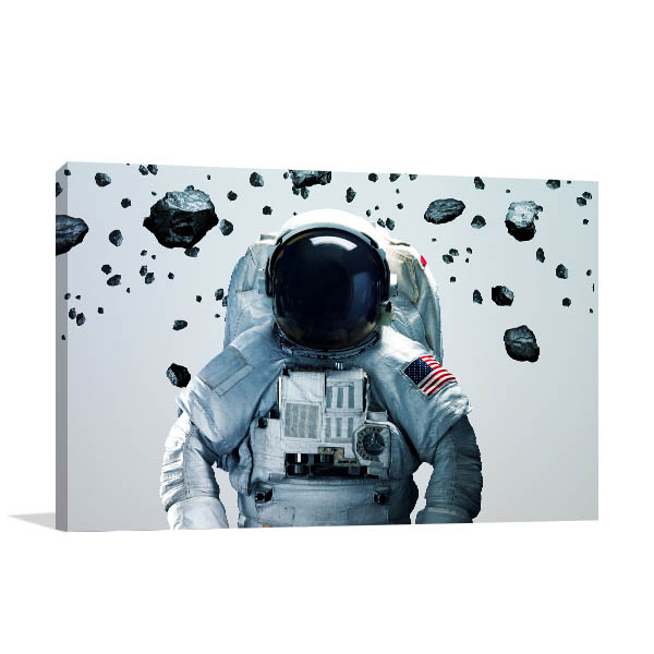 Astronaut In Outer Space Art Prints