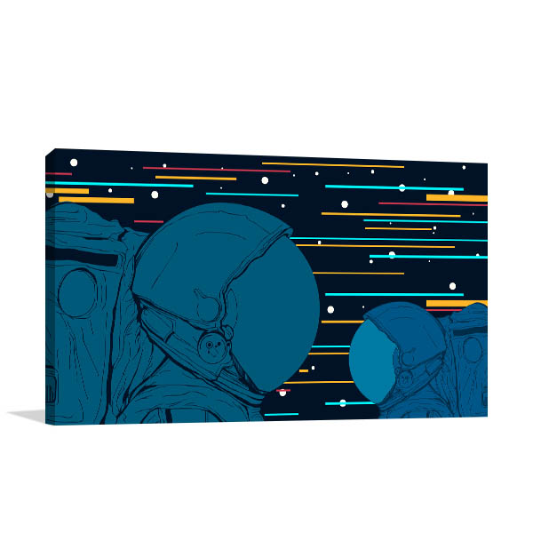 Astronauts Vector Wall Art