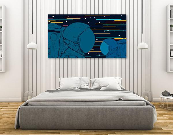 Astronauts Vector Canvas Art Prints