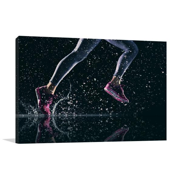 Athletes Feet Prints Canvas