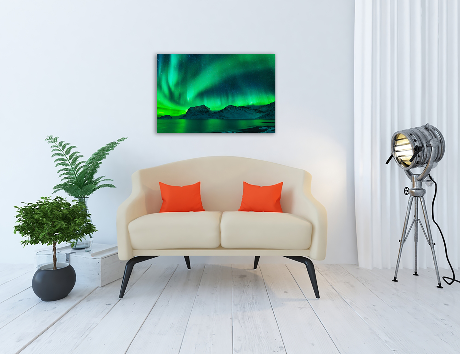 Online Green Landscape Canvas Print