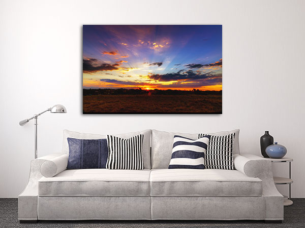 Aussie Outback Sunset Canvas Prints